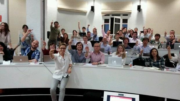 Con los Alumnos de Fin de Semana. 5ª Promoción del MIB (Master Internet Business)