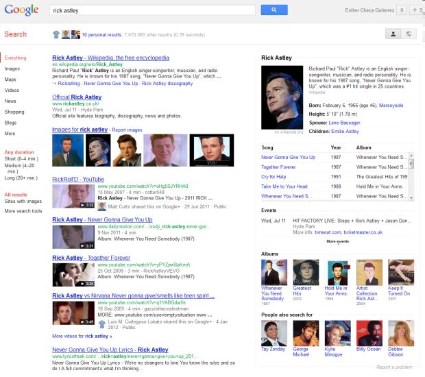 comportamiento semántico de Google