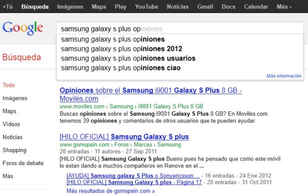opiniones de Samsung Galaxy