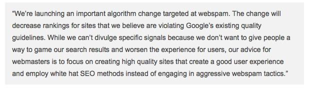 Comunicado en Google's official blog