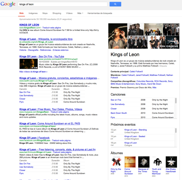 Funcionamiento de knowledge graph