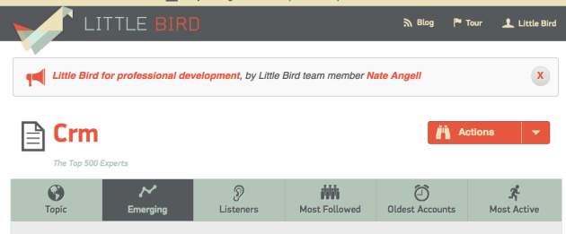 Panel de Little Bird por cada tema que se cree en el dashboard