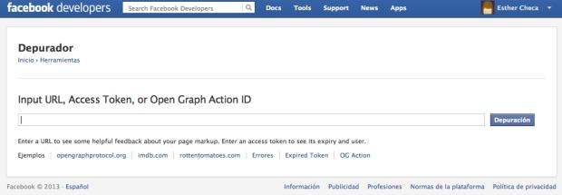 Validador de etiquetado Open Graph de Facebook