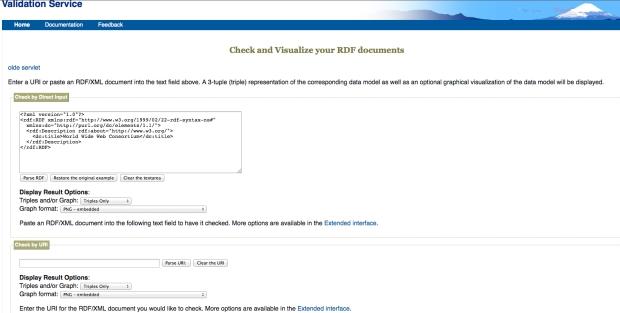 Validador de RDF de la W3C