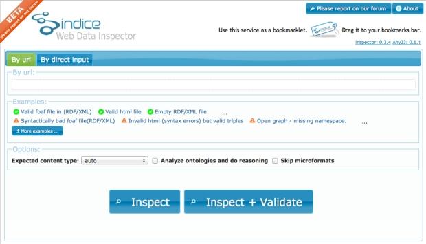 Validador de datos estructurados Sindice Data Inspector