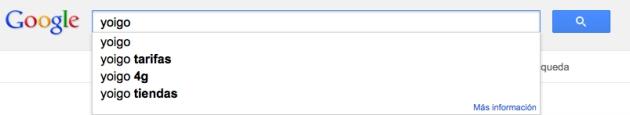 Google Instant de Yoigo en Google
