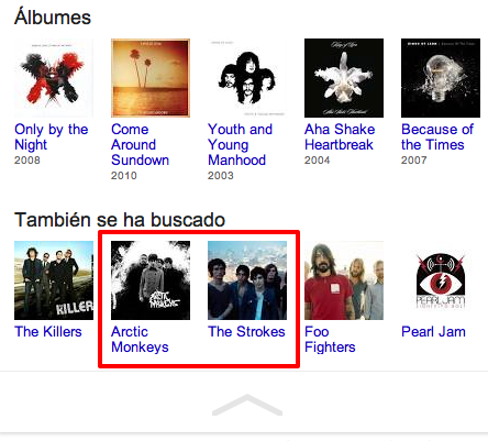 Busquedas relacionadas de Google. Knowledge Graph