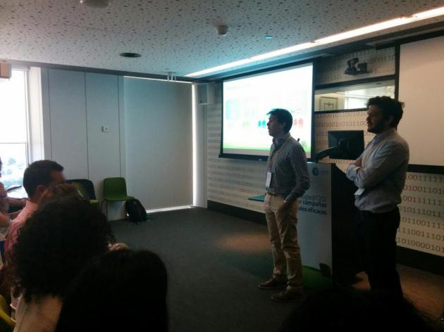 Borja Berzosa y Alessandro Tedoldi en la Ponencia Google@T2O
