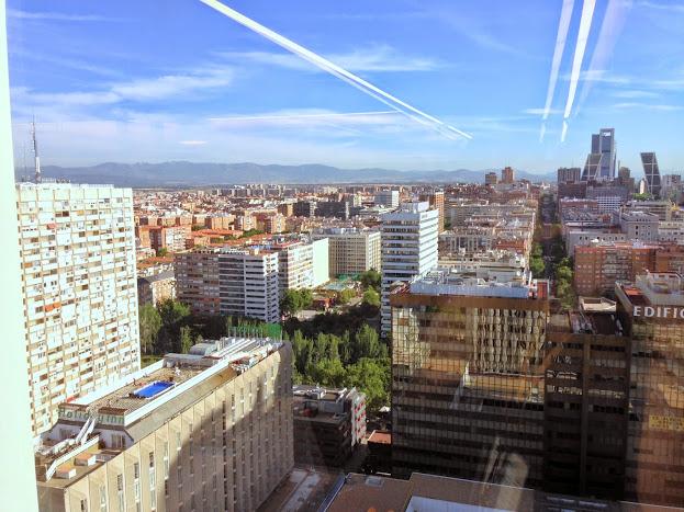 Vistas desde la Oficina de Google en Torre Picasso (Madrid)