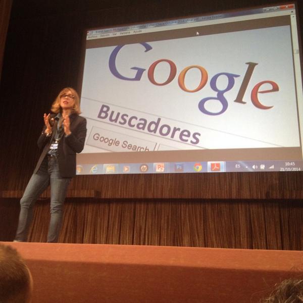 Durante la Conferencia #Indusmedia. San Sebastián, 22 de Octubre 2014