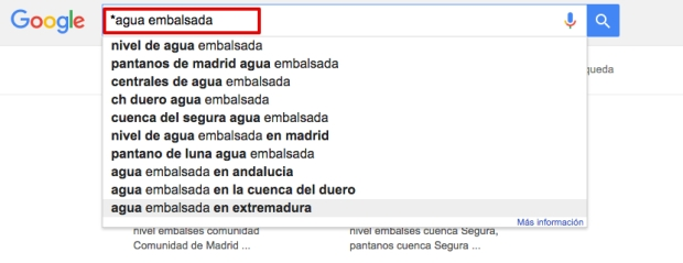 Cómo buscar en Google con asterisco
