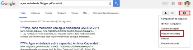 Cómo buscar en Google con la Búsqueda Avanzada