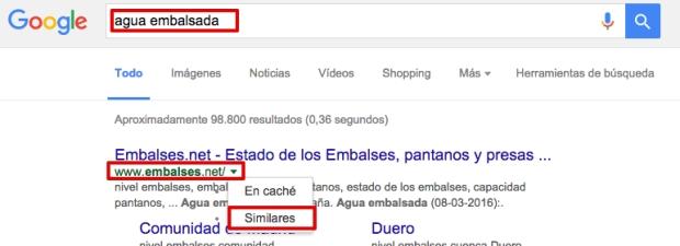 Cómo buscar en Google sitios similares