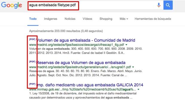 Cómo buscar en Google ficheros